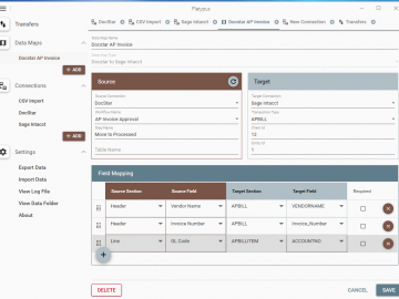 Sage Intacct: InfoHitch supports both APBill, APBillItem and SLIDEIN Params which uses the custom fields set when you configure the Connections.